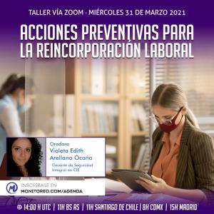 Acciones preventivas para la reincorporación laboral