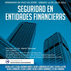 SEGURIDAD EN ENTIDADES FINANCIERAS